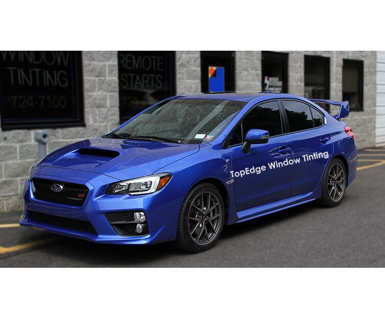 Blue Subaru WRX tinted with 20%