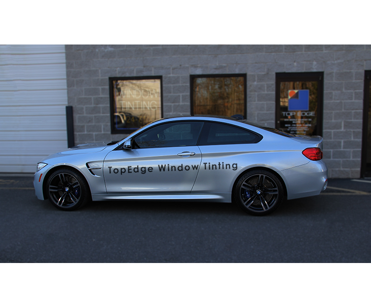 Silver BMW M4 tinted with 50%